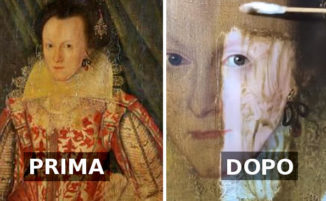 Esperto d'arte rimuove una vernice gialla da un dipinto del '600, il risultato è strepitoso
