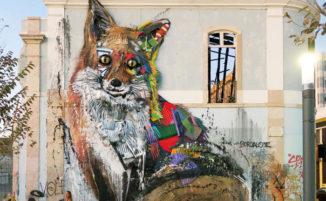 Street artist realizza una mostra di animali realizzati con la spazzatura