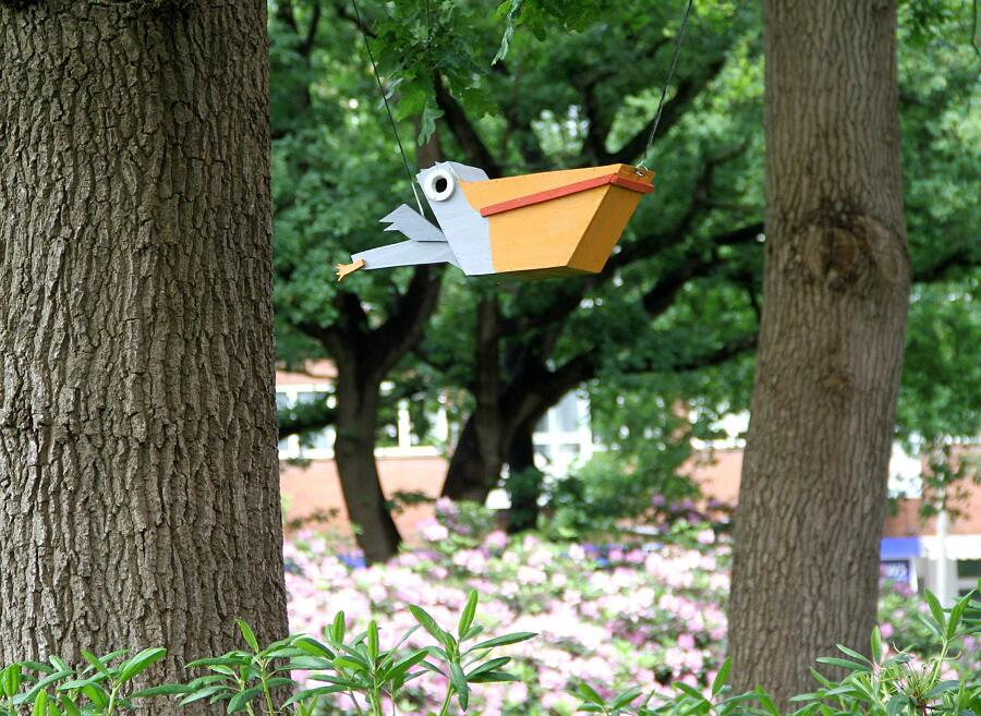 Case Per Uccelli In Legno Riciclato Thomas Dambo