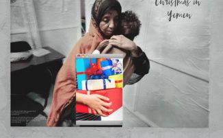 Street artist mostra il natale per i bambini in Yemen: un vero inferno
