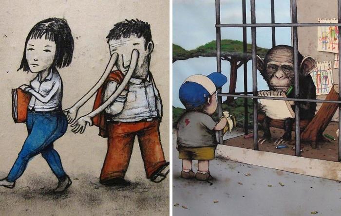 49 provocatorie illustrazioni sulla società contemporanea che vi faranno riflettere