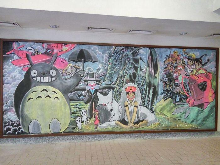 Studenti Cinesi Disegnano Sulla Lavagna Illusdreamer