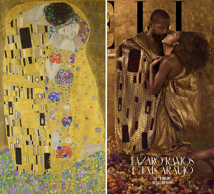 ELLE Brazil ricrea 5 dipinti famosi con persone reali e il risultato è sorprendente