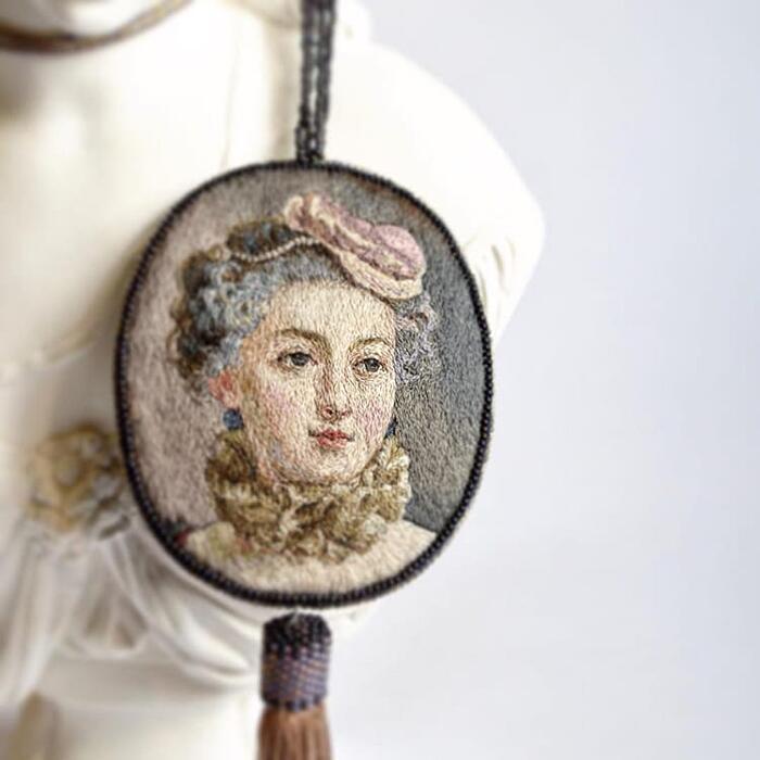 Accessori Ricamati Con Ritratti Del Rinascimento Maria Vasilyeva