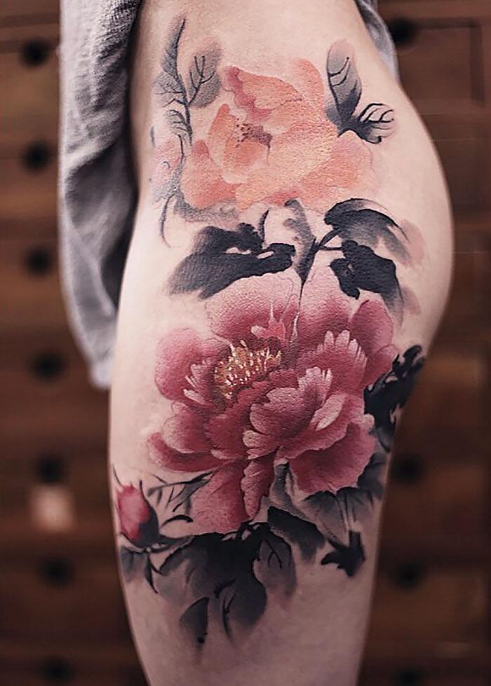 Tatuaggi Che Sembrano Acquerelli Di Chen Jie