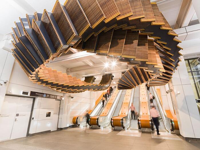 Interloop Installazione Vecchie Scale Mobili Metro Sydney Chris Fox