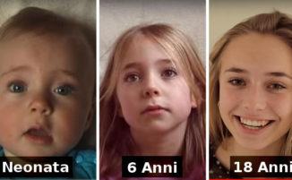 Filma la figlia che cresce dalla nascita a 18 anni, in un breve video davvero commovente