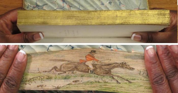 Opere d'arte nascoste sui bordi di libri antichi: il fore-edge painting