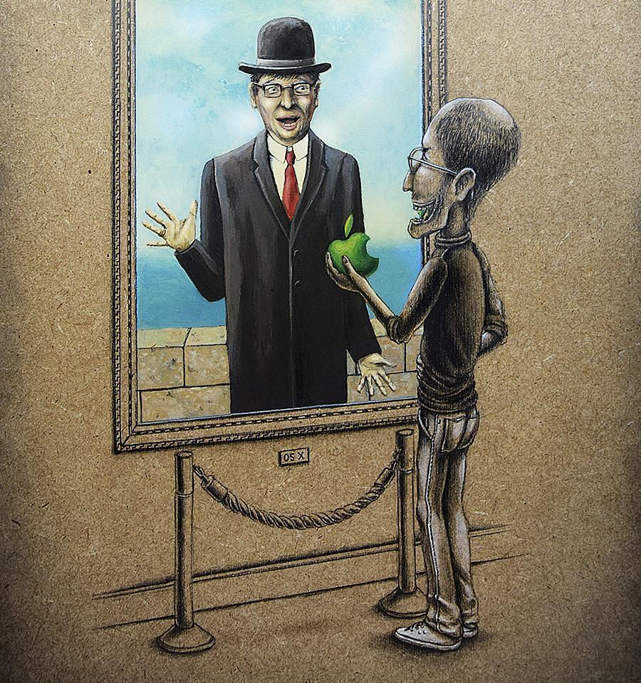 Illustrazioni Dipinti Famosi Muses et Hommes Pez