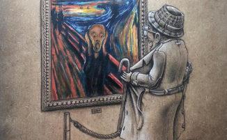 Artista francese immagina dipinti famosi in chiave ironica