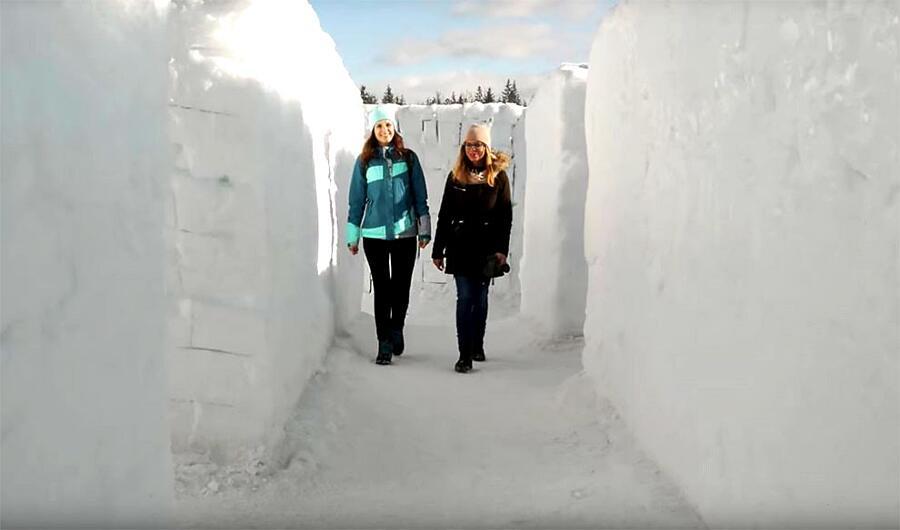 Labirinto Di Neve Più Grande Del Mondo Snowlandia Polonia