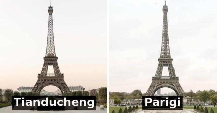 Sembra la Torre Eiffel, invece è una Parigi