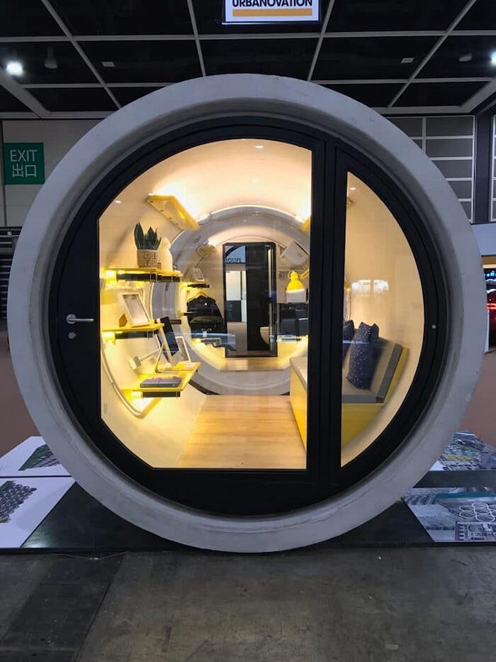 Micro Appartamento Dentro Tubi Dell'Acqua OPod Tube House