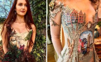 Una stilista francese crea abiti da regina delle fiabe