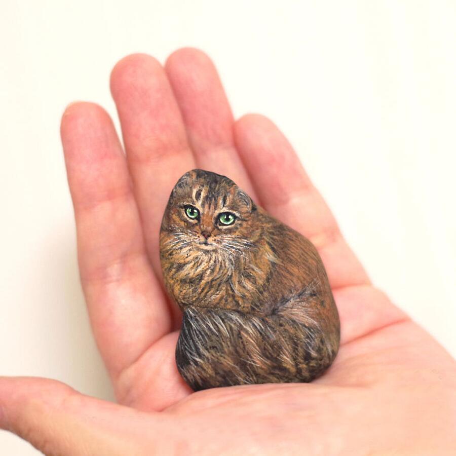 Animali Dipinti Su Pietre Akie Nakata