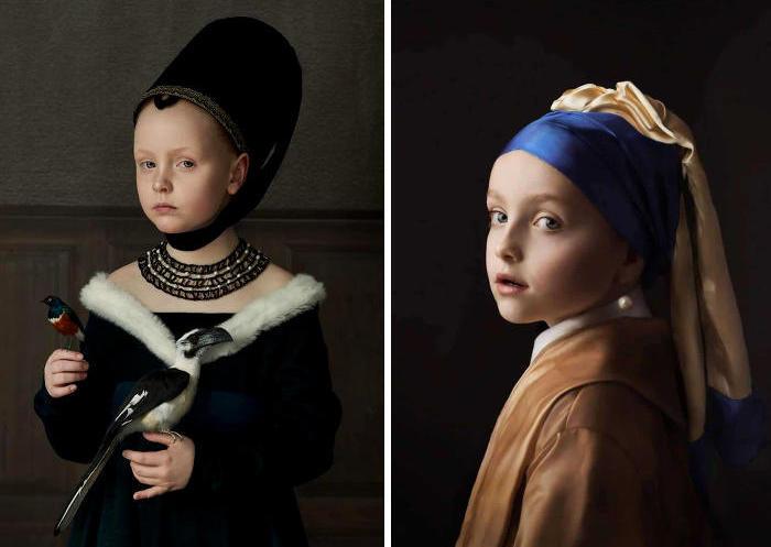 Fotografa realizza ritratti che sembrano i dipinti ad olio dei grandi maestri
