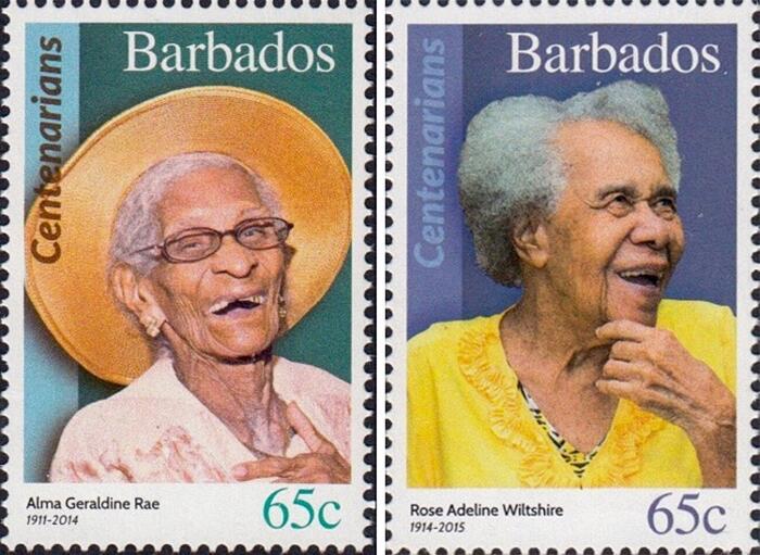Francobolli Omaggio Centenari Barbados