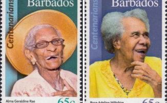Alle Barbados celebrano i cittadini centenari stampando i loro ritratti su francobolli postali