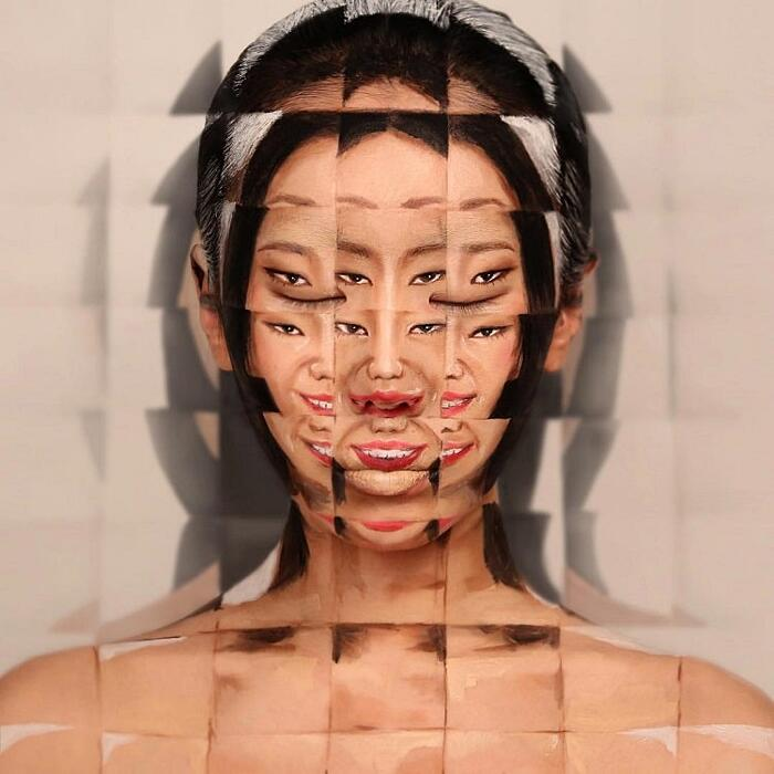 Illusioni Ottiche Make Up Dain Yoon