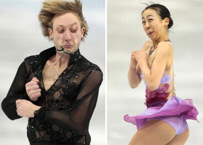 Le facce buffe dei pattinatori olimpici in 31 foto divertenti