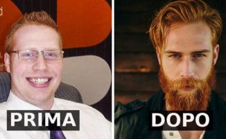 Il barbiere lo convince a farsi crescere la barba e la sua vita si trasforma