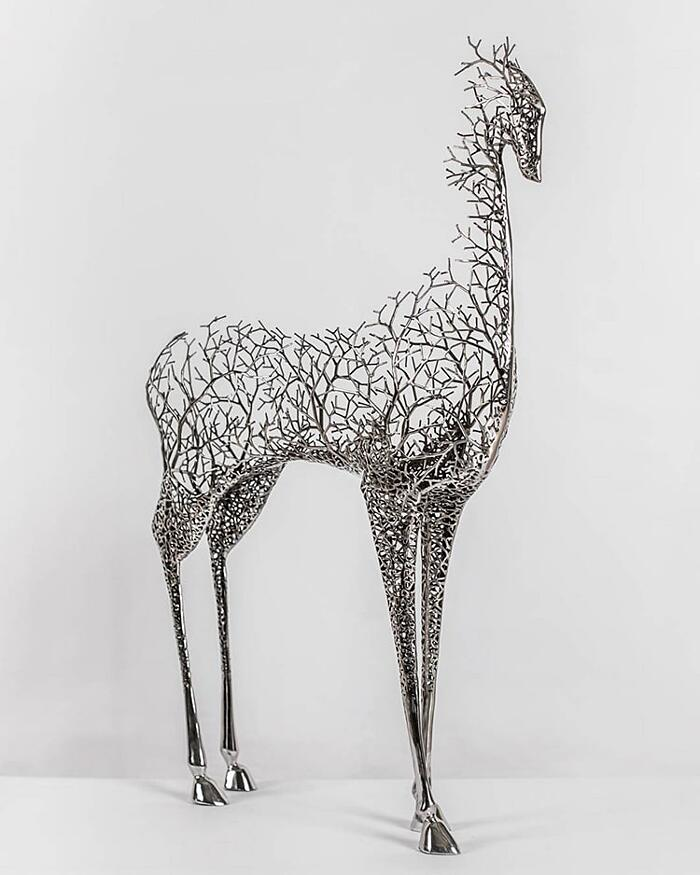 Sculture Surreali Metallo Animali Kang Dong Hyun