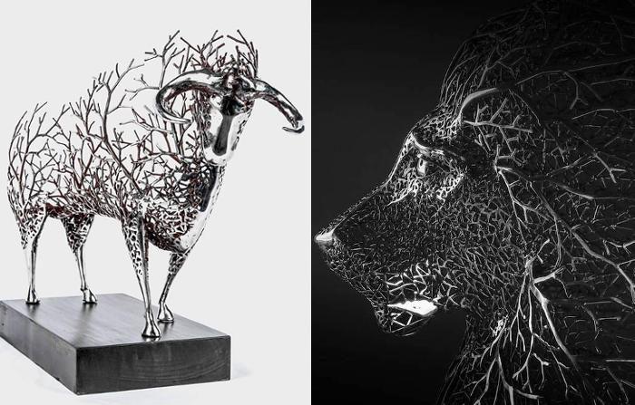 Sculture surreali di animali rendono omaggio alla natura