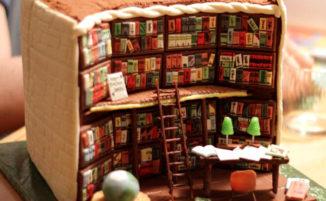 Una torta incredibile riproduce minuziosamente l'interno di una biblioteca