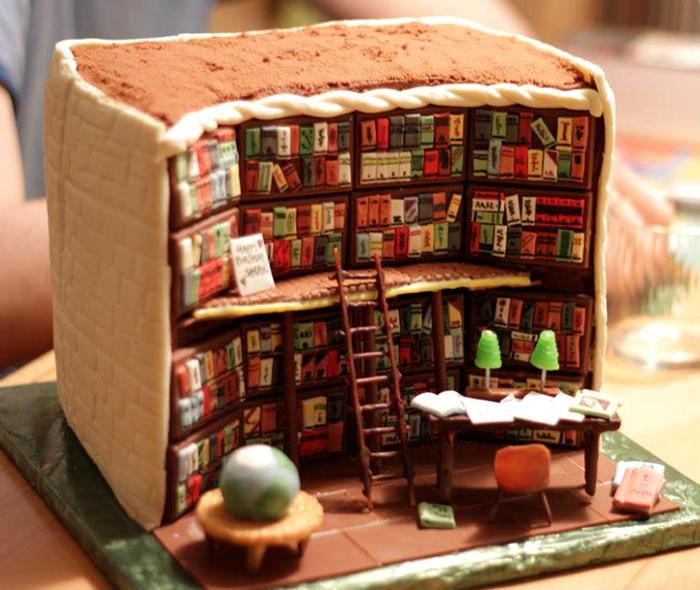 Una torta incredibile riproduce minuziosamente l interno di una biblioteca f301ac4e2841