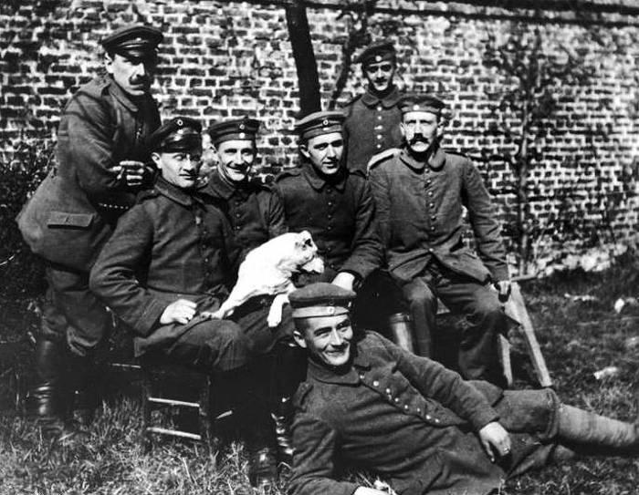 Hitler durante la Prima Guerra Mondiale