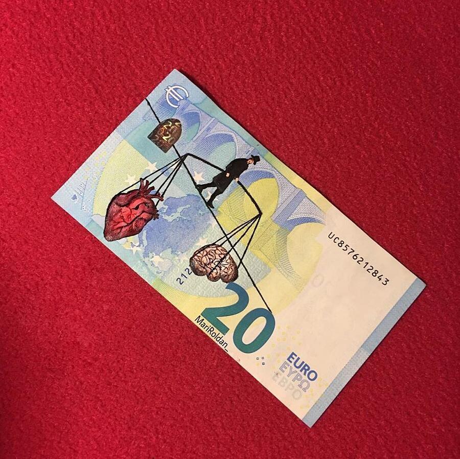 Dipinti Famosi Sulle Banconote Mari Roldan