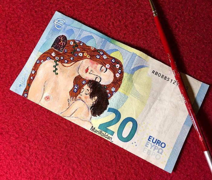 Artista ricrea dipinti famosi sulle banconote