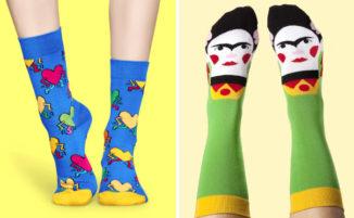 21 calzini davvero creativi per un tocco di colore al vostro outfit quotidiano