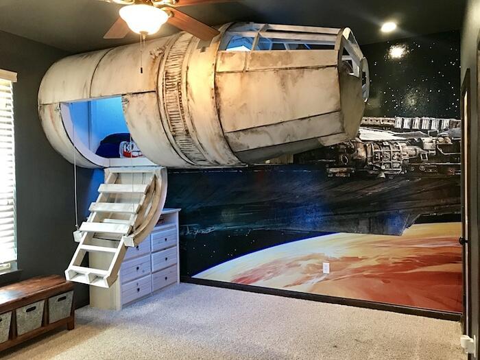 Camera Da Letto Star Wars : Costruiscono un letto navicella ispirato a star wars per far