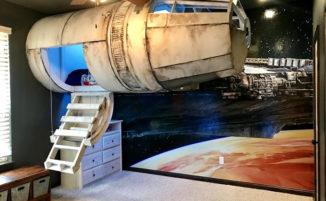 Costruiscono un letto/navicella ispirato a Star Wars per far dormire il figlio nella sua stanza