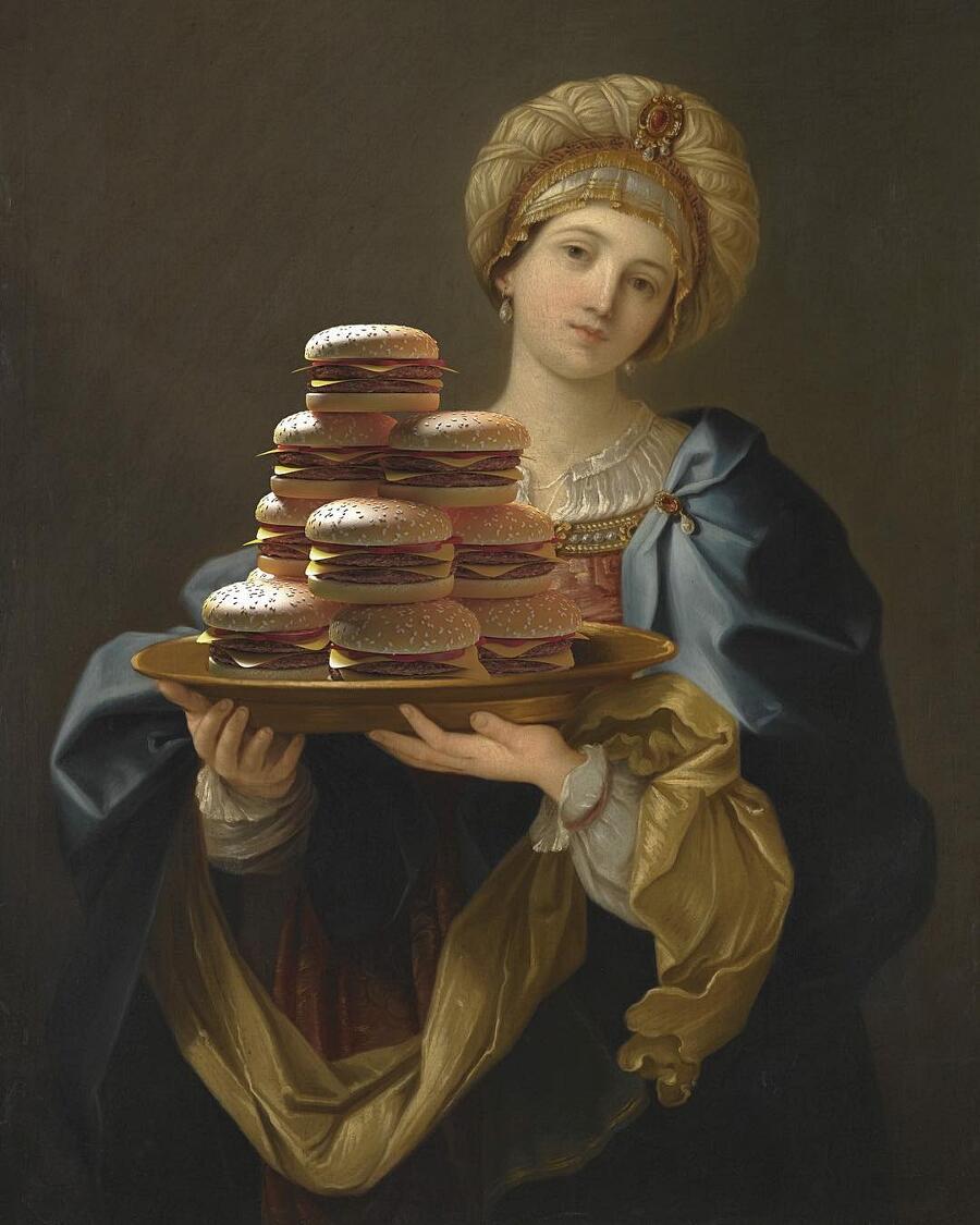 Hamburger Inseriti In dipinti Classici The Burger Friday Gabriel Nardelli Araujo