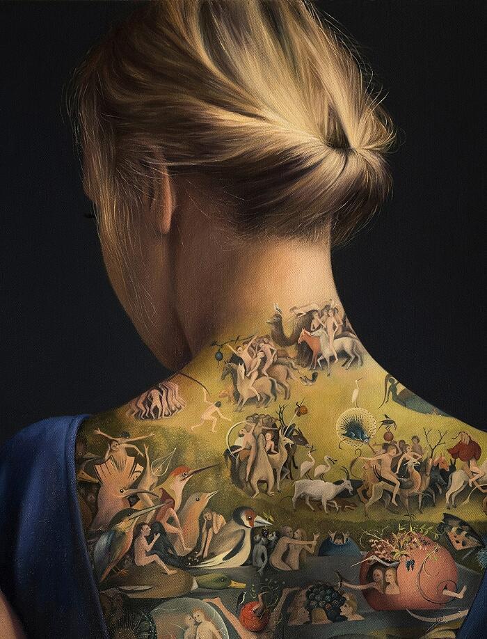 Dipinto Con Tatuaggio Ispirato A Bosch Agnieszka Nienartowicz