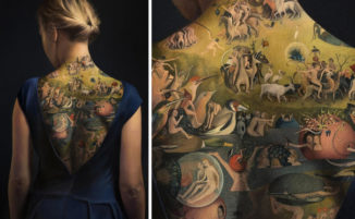 """Questa donna tatuata con """"Il giardino delle delizie"""" non è ciò che sembra"""