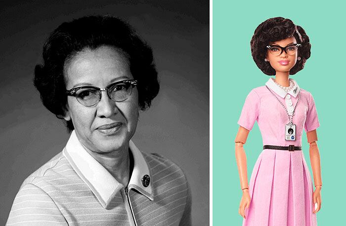 Barbie Ispirate A Donne Vere Serie Shero Mattel Katherine Johnson
