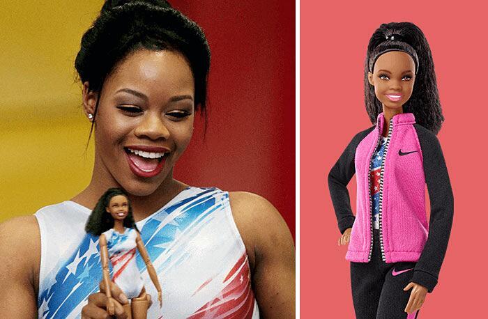 Barbie Ispirate A Donne Vere Serie Shero Mattel Gabby Douglas