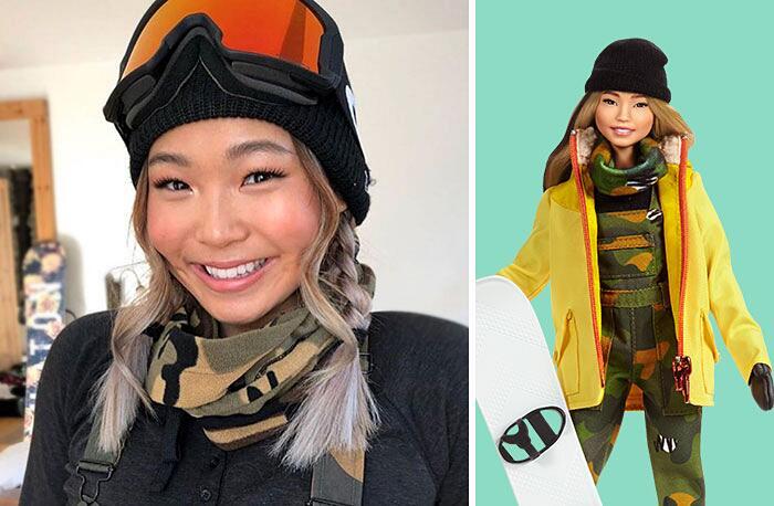 Barbie Ispirate A Donne Vere Serie Shero Mattel Chloe Kim