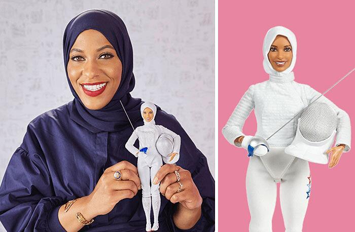 Barbie Ispirate A Donne Vere Serie Shero Mattel Ibtihaj Muhammad