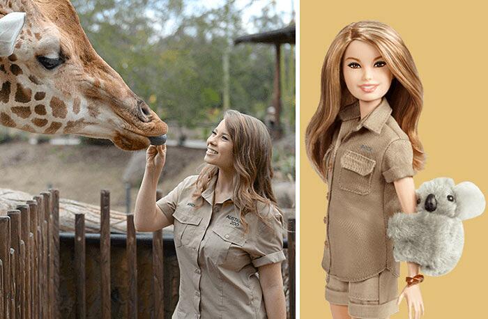 Barbie Ispirate A Donne Vere Serie Shero Mattel Bindi Irwin