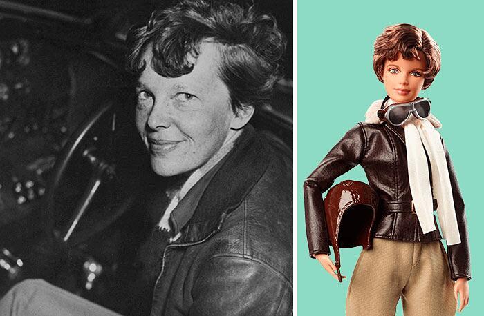 Barbie Ispirate A Donne Vere Serie Shero Mattel Amelia Earhart