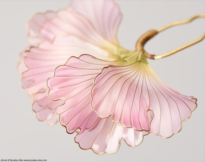 Fermagli Capelli Floreali Giapponesi Kanzashi Sakae
