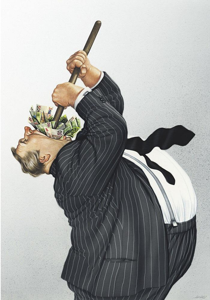 Illustrazioni Satiriche Società Moderna Gerhard Haderer