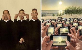 31 Illustrazioni brutalmente oneste mostrano le imperfezioni della nostra società