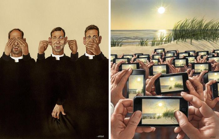 38 Illustrazioni brutalmente oneste mostrano le imperfezioni della nostra società