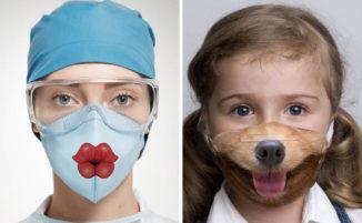 Progetta maschere chirurgiche divertenti per rendere le visite in ospedale più piacevoli