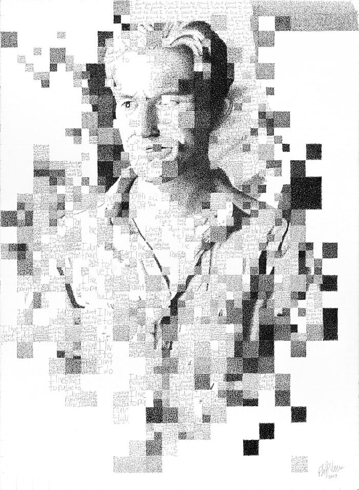 Ritratti Composti Da Caratteri Tipografici Phil Vance